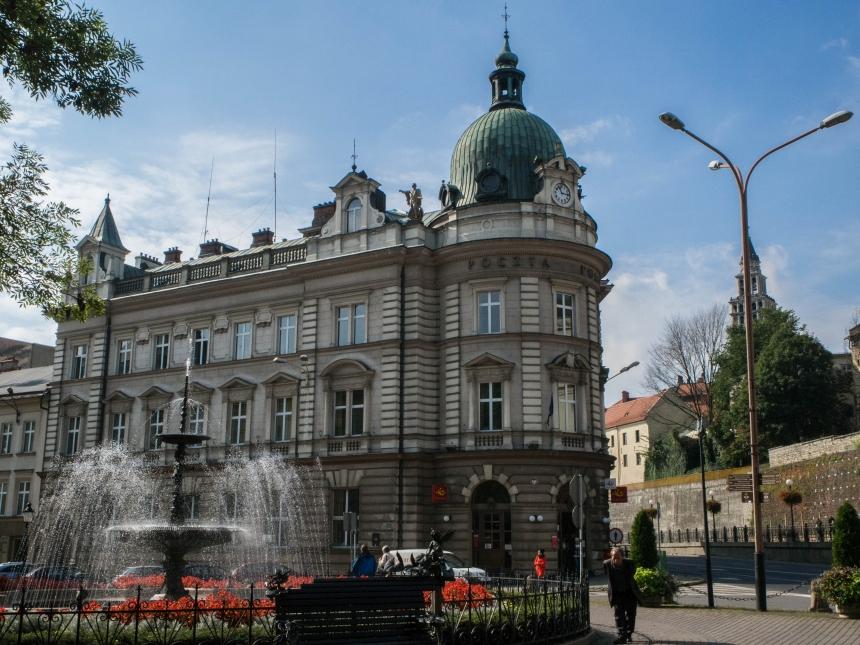 Zabytkowy budynek Poczty Polskiej wBielsku-Białej