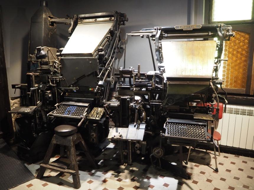 Muzeum Prasy Śląskiej - maszyny drukarskie