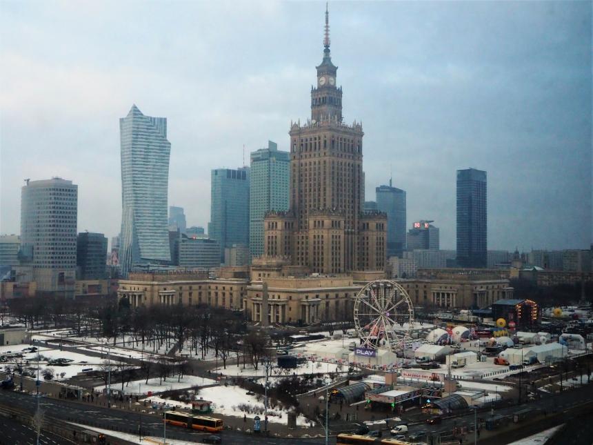 Widok naPałac Kultury iNauki zNovotel Centrum Warszawa