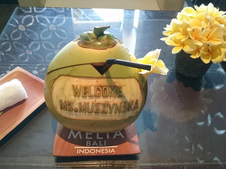 Kokos napowitanie wMelia Bali