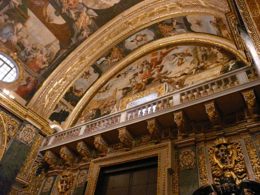 Wnętrze Katedry św. Jana, Valletta, Malta