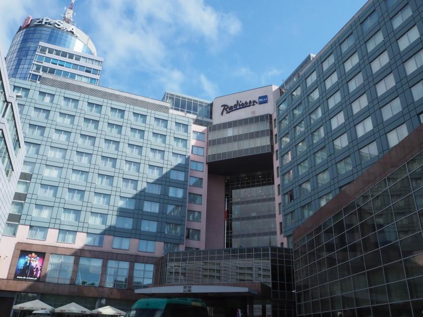 Hotel Radisson Blu wSzczecinie - widok zzewnątrz
