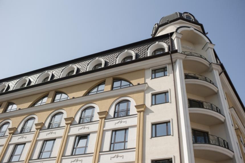 Radisson Blu Kijów położony wzabytkowej części Kijowa - dzielnicy Podil