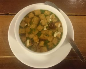 Zupa czosnkowa, Pilzno, Czechy