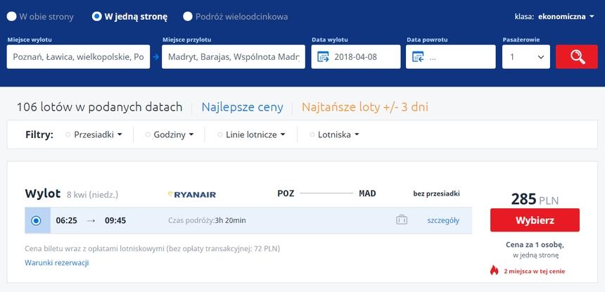Lot zPoznania doMadrytu - Infoloty.pl