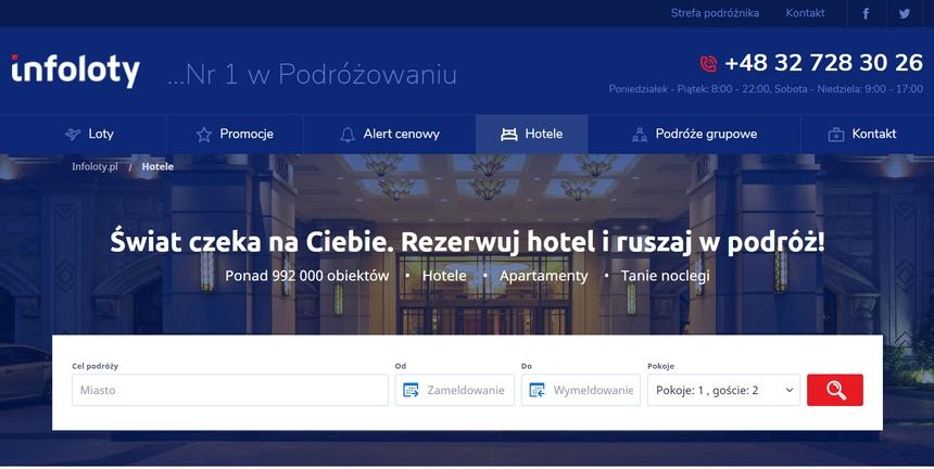 Wyszukiwarka hoteli - Infoloty.pl