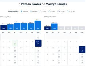Poznań - Madryt, Infoloty.pl
