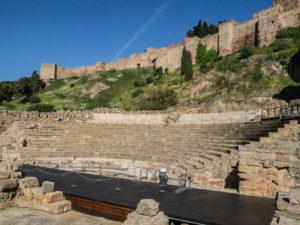 Teatro Romano - widok zplacu, Malaga