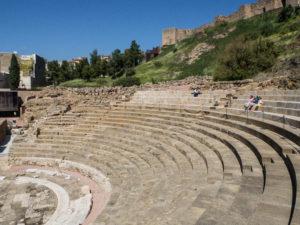 Teatro Romano, Malaga - widok zsamego teatru
