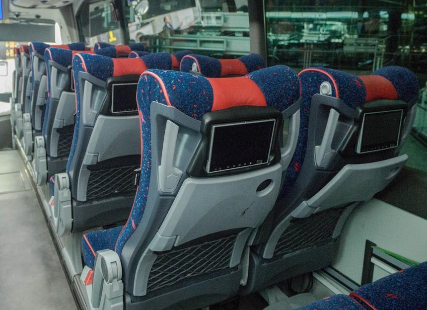 Tak wyglądało wnętrze autobusu Interbus zMadrytu doMalagi