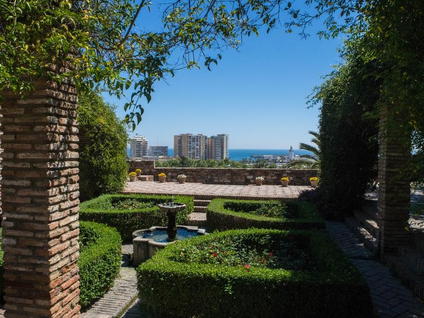 Malaga - widok zAlcazaba, Hiszpania