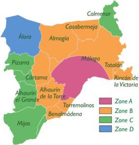 Mapa komunikacji wMaladze, jeśli korzystasz zCard Consortium