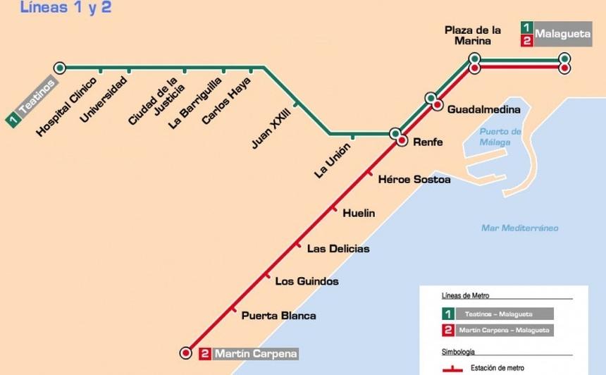 Mapa metra wMaladze
