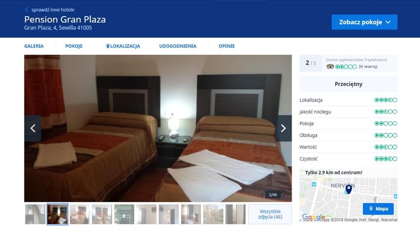 Pension Gran Plaza, Sewilla, Infoloty.pl