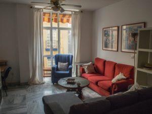 Salon wmieszkaniu studenckim, wktórym mieszkam wMaladze