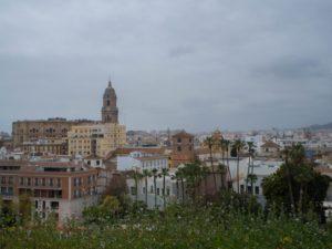 Widok naMalagę zMirador Alcazaba