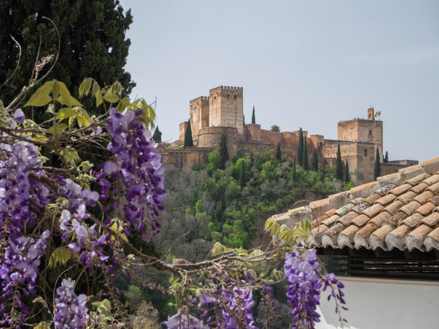 Alhambra zdzielnicy Albaicín, Granada
