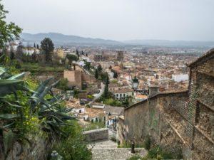 Widok nakatedrę wGranadzie, Hiszpania