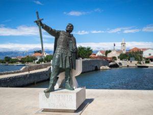 Branimir - widok namiasta zdrugiej części Nin, Chorwacja