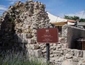 Fragment murów wNin, Chorwacja