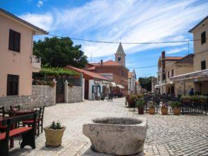 Główny plac wmieście Nin, Chorwacja