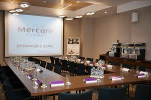 Sala konferencyjna whotelu Mercure Bydgoszcz Sepia