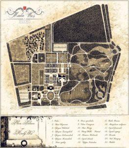 Plan Pałacu Mała Wieś orazogrodów