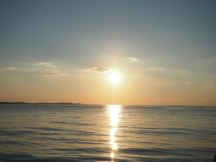 Zachód słońca wZadarze, Chorwacja