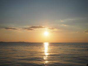 Najpiękniejszy zachód słońca wZadarze, Chorwacja