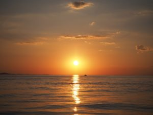 Zachód słońca - Zadar, Chorwacja