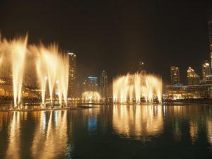 Tańczące fontanny wDubaju