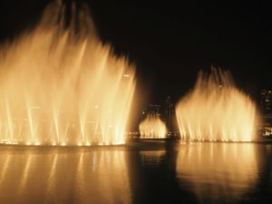 Pokaz fontann wDubaju, Zjednoczone Emiraty Arabskie