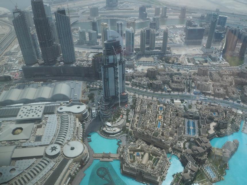 Widok zBurj Khalifa, Dubaj