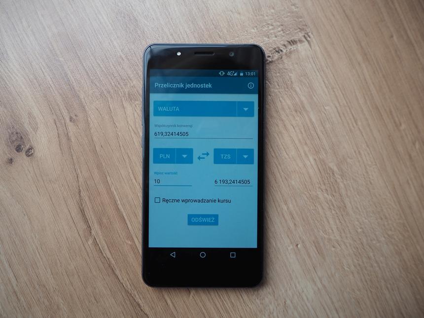 """Przelicznik walut - aplikacja dostępna wVasco Traveler Premium 5"""""""