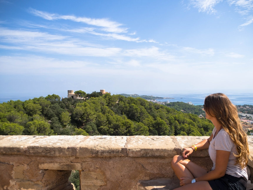Widok z Castell de Capdepera, Majorka