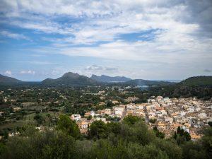 Widok namiasto Pollenca ze wzgórza, Majorka