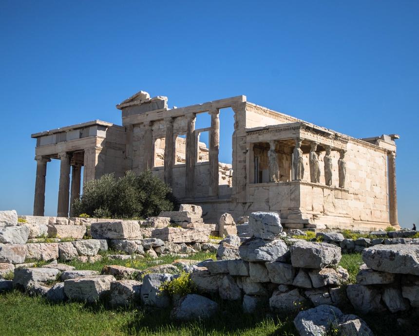 Świątynia Erechtejon naAkropolu isłynne kariatydy, Ateny