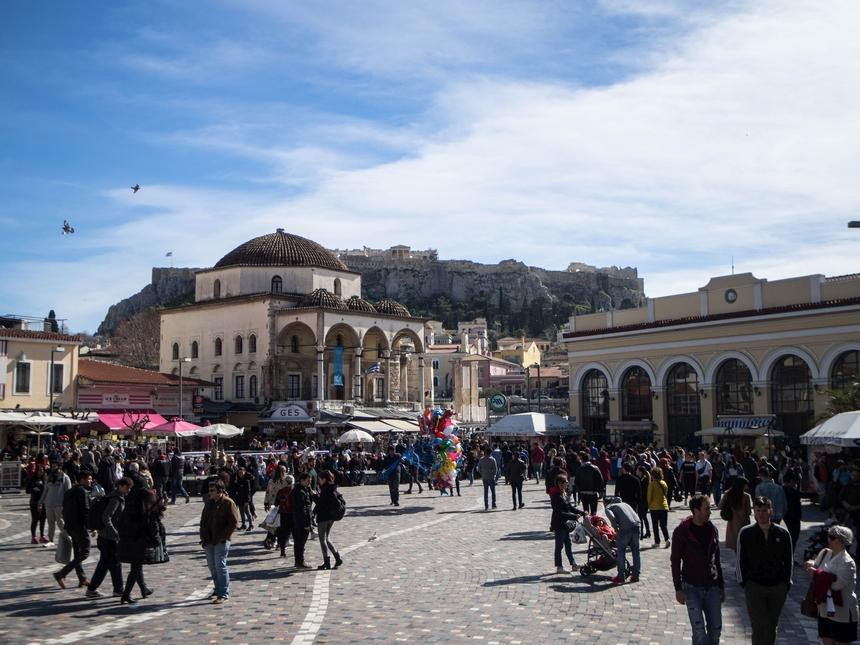Plac Monastiraki iwidok nameczet Tzisdarakis, Ateny