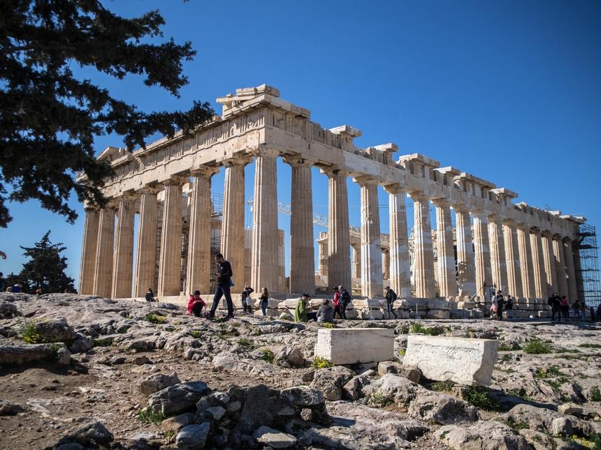 Partenon - główna budowla nacałym Akropolu, Ateny