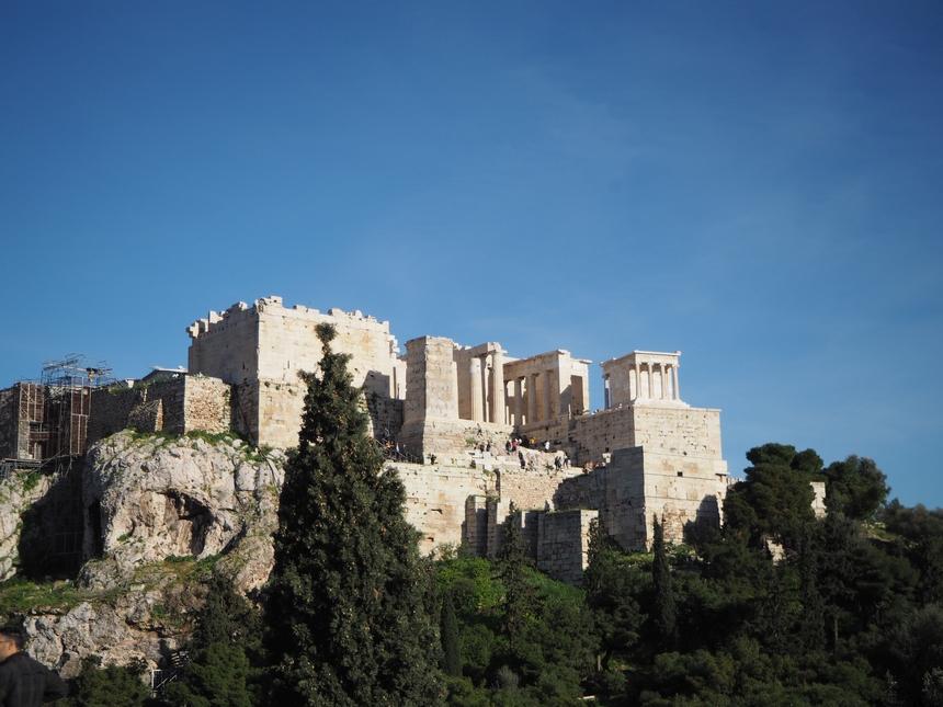 Widok naAkropol zAreopagu, Ateny