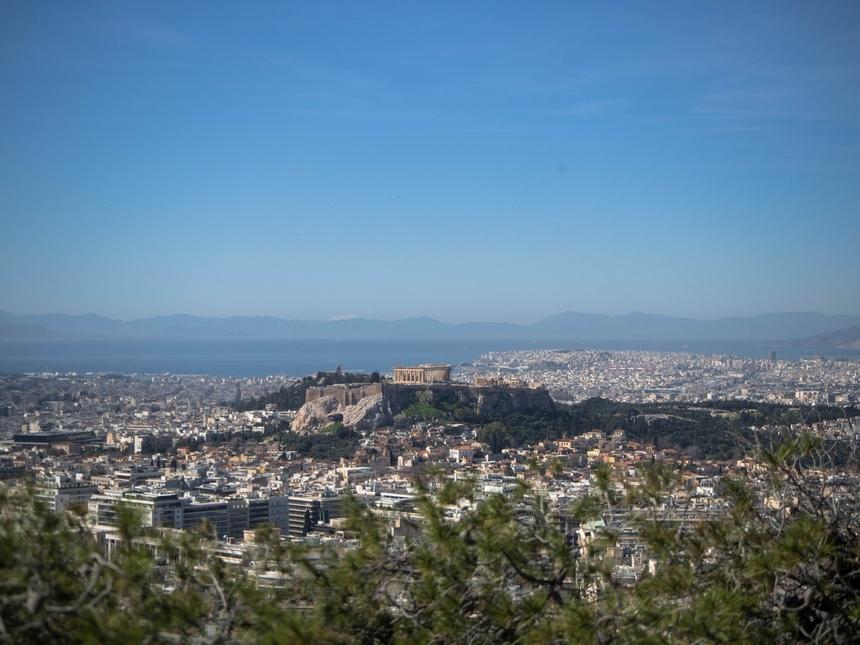 Likawitos - widok ze wzgórza naAteny