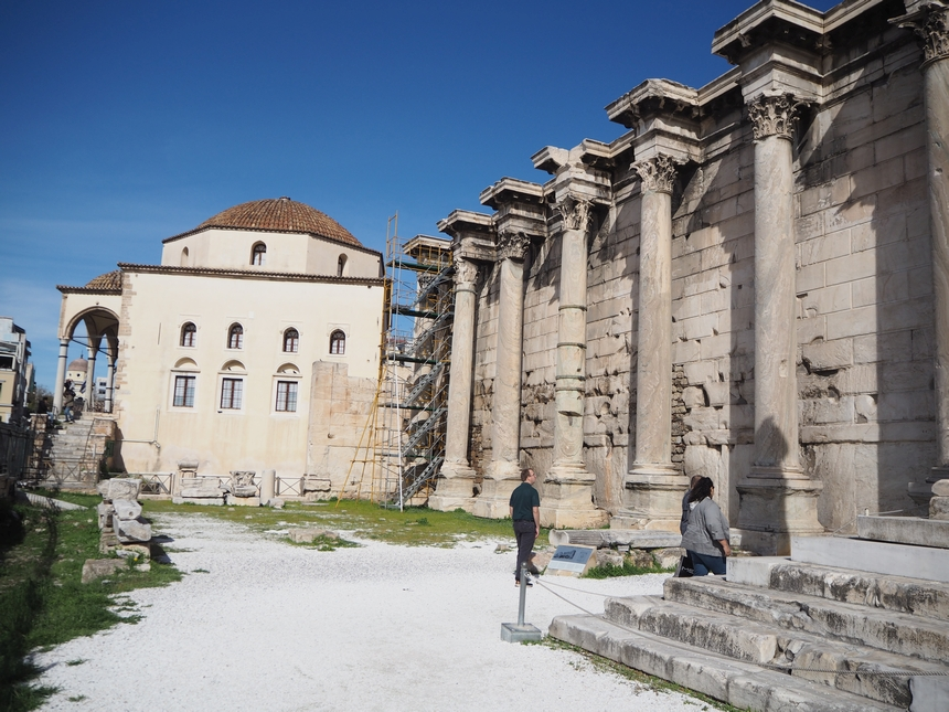 Biblioteka Hadriana, Ateny
