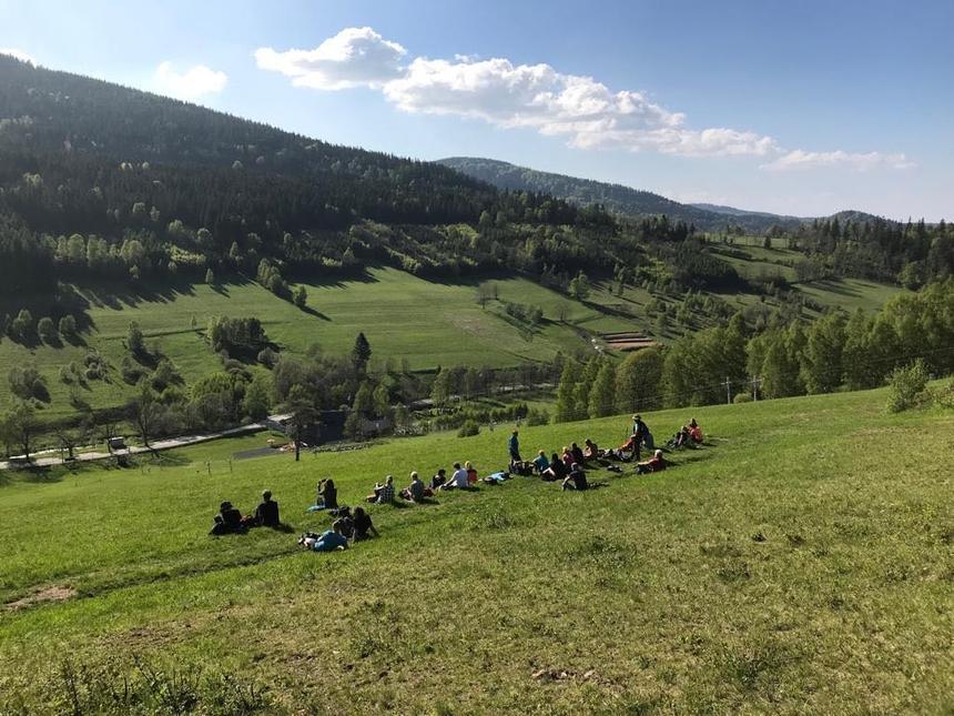 A to cała grupa, zktórą odwiedziłam Góry Bialskie