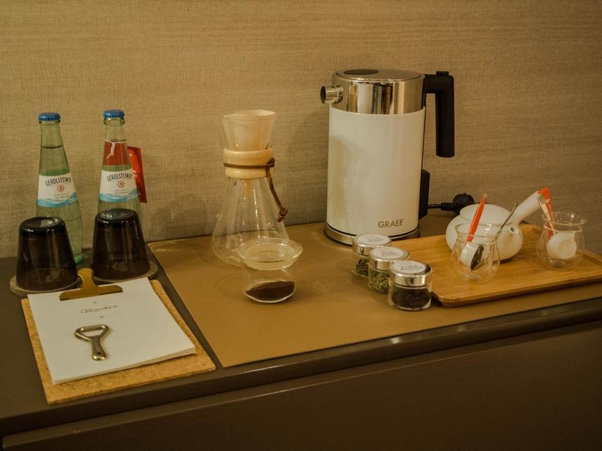 Zestaw doparzenia kawy iherbaty whotelu Vienna House QF Dresden
