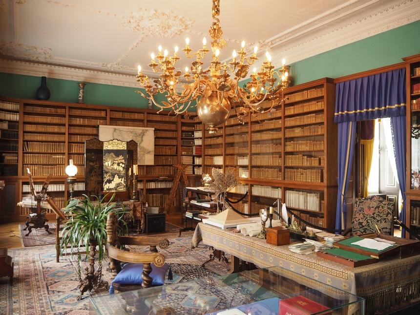 Gabinet księcia Hermanna von Pückler-Muskau, pałac Branitz