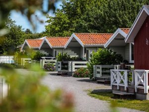 Domki nacampingu wHasle, Bornholm