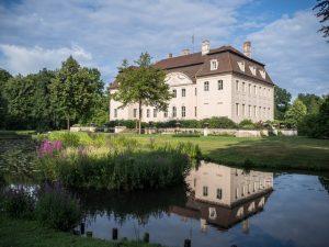 Pałac Branitz - widok od ogrodu, Chociebuż