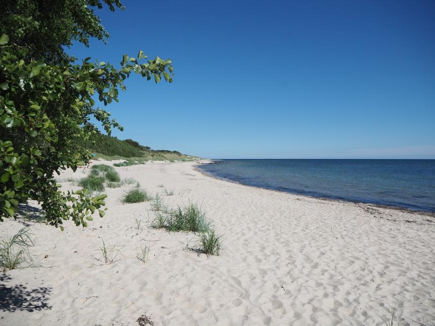 Plaże napołudniu Bornholmu - Duodde