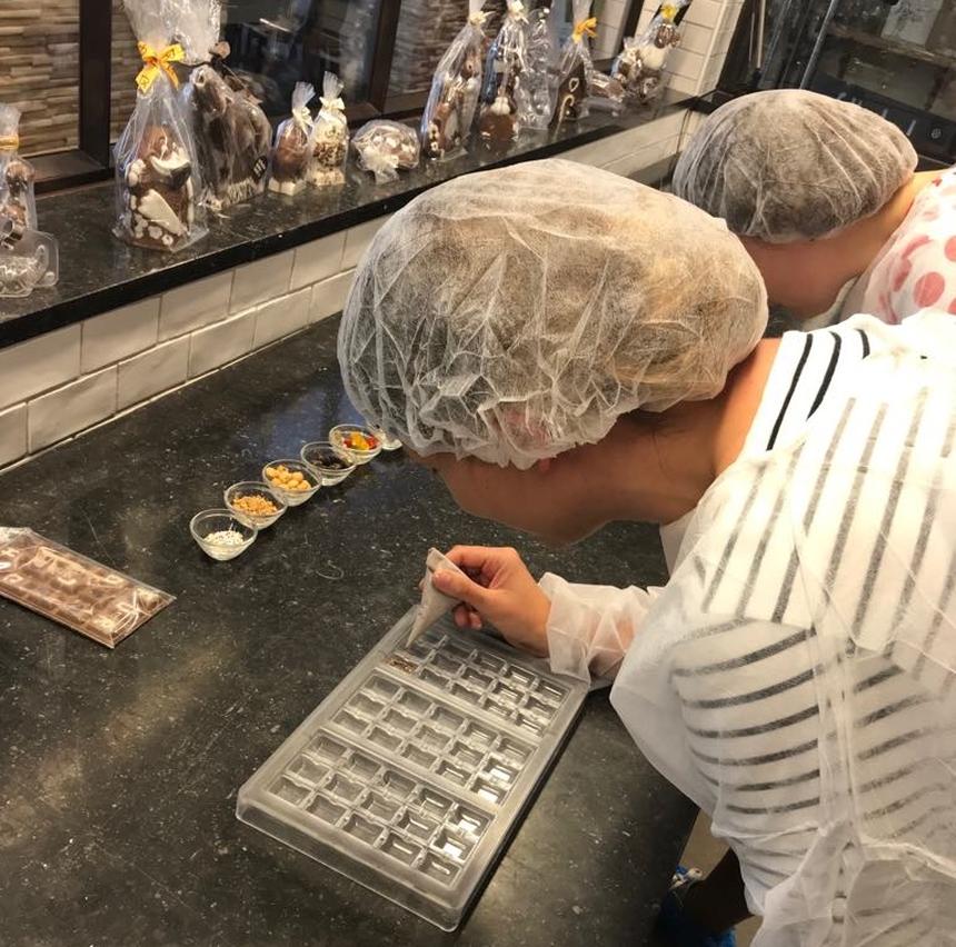 Warsztaty robienia własnej czekolady wConfiserie Felicitas
