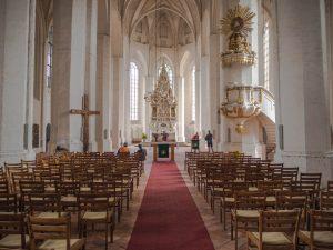 Wnętrze kościoła św. Mikołaja, Chociebuż